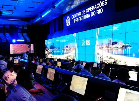 Centro de Control de Operaciones de Río de Janeiro.