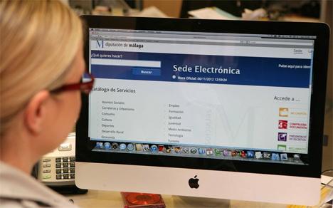 Administración electrónica Málaga.