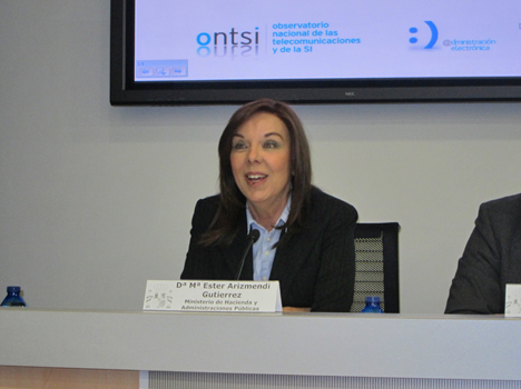 María Ester Arizmendi, Directora General de Modernización Administrativa, Procedimientos e Implantación de Administración Electrónica.