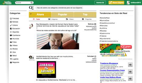Captura de pantalla de la red social de Soto del Real.
