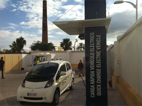 Estación de recarga rápida del proyecto Zem2All instalada en Málaga