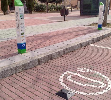 Puntos de recarga junto al Ayuntamiento de Valladolid