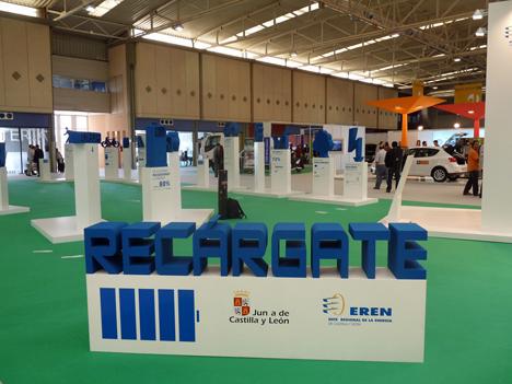 Stand de Castilla y León para la promoción de la movilidad eléctrica
