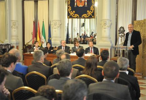 Presentación de la iniciativa de Bolt en el Ayuntamiento de Málaga.