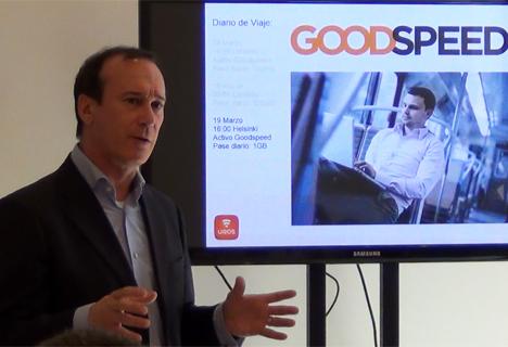 José Luis Martínez, Presidente de Uros en España, durante la presentación del GoodSpeed