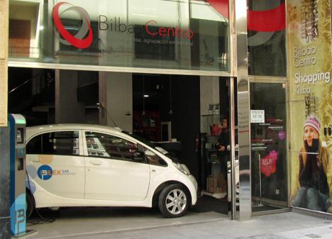 Vehículo eléctrico expuesto en BilbaoCentro