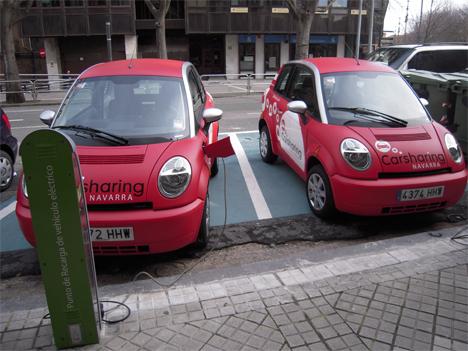 Vehículos eléctricos y puntos de recarga en Pamplona