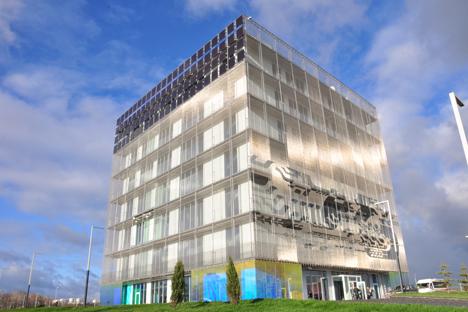 Edificio Hypercube, de Skolkovo.