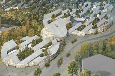 Propuesta vista aérea para la zona de la universidad