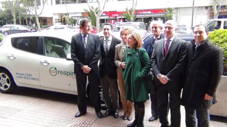 Acto de presentación de la firma entre NH Hoteles y Respiro Car Sharing