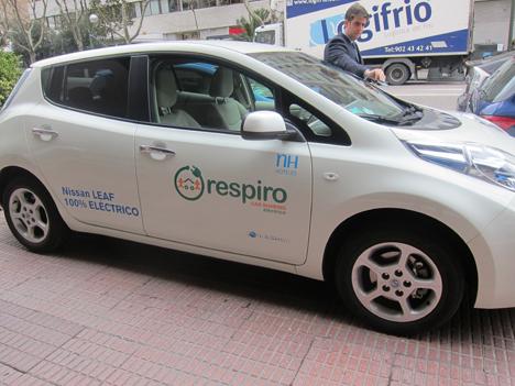 Vehículo Eléctrico para Car Sharing implantado en NH Eurobuilding