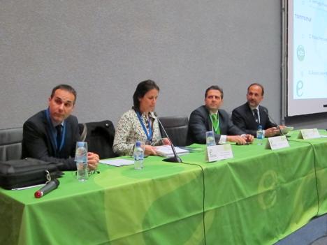 De izquierda a derecha: Santiago Pérez, Director de Post-venta de Jungheinrich en España; Patricia Rey, Gerente Técnico de la subdirección de Economía y Planificación de INECO; Pablo Fernández, Presidente & CEO de N2S Group, y Juan Alfaro de la Torre, Secretario General del Club de Excelencia en Sostenibilidad.