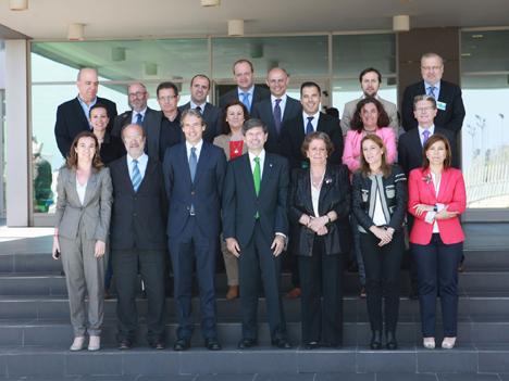 Junda directiva de la RECI tras su reunión en Castellón el miércoles 17 de abril.