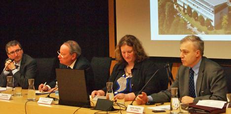 Presentación del Congreso ITS España. De izquierda a derecha, Jose Viteri, André Reix, Machteld Lijnse y Jaime Huerta.