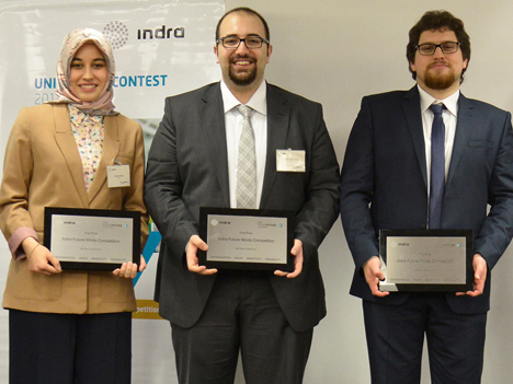 Ganadores del Indra Future Minds Competition 2013