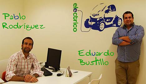 Pablo y Eduardo, geógrafos de GeoCyL que llevarán a cabo del proyecto.