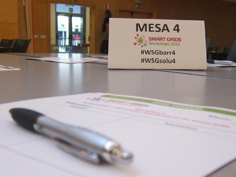 Cuarta mesa del Workshop con detalle de los hashtag correspondientes para twitter.