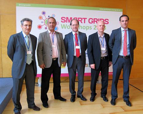 De izquierda a derecha: Santos de Paz, Grupo Tecma Red, Joaquín Chacón, Jofemar, José Mª Díez, Núcleo Duro Felguera, Stefan Junestrand, Grupo Tecma Red y Santiago Díez, IFEMA