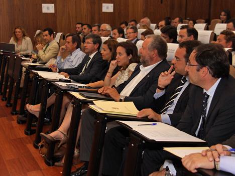 Miembros de la RECI durante la asamblea anual celebrada en Cáceres.