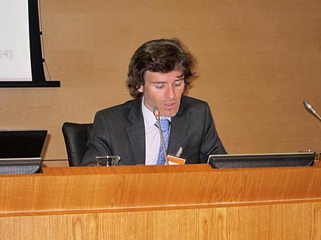 Mario Cortés, del Ayuntamiento de Málga, en representación del SC4, Energía y Medio Ambiente.