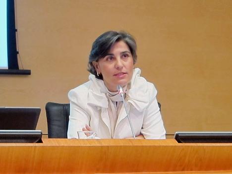 Rosa Muñoz, de Segitur, en representación del SC5, Destinos Turísticos.