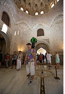 Tecnología de Google, trekker, grabando en la Alhambra.