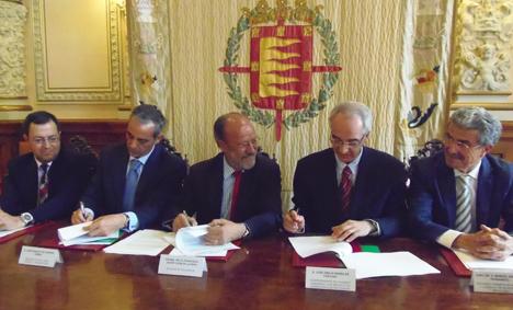 Firma del acuerdo del acuerdo Valladolid Smart City