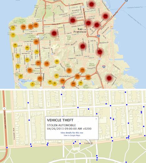 Mapa de criminalidad en San Francisco