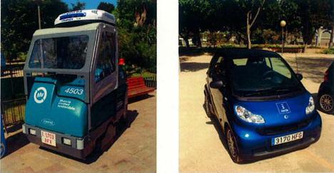 vehículos utilizados por CESPA para la recogida de residuos
