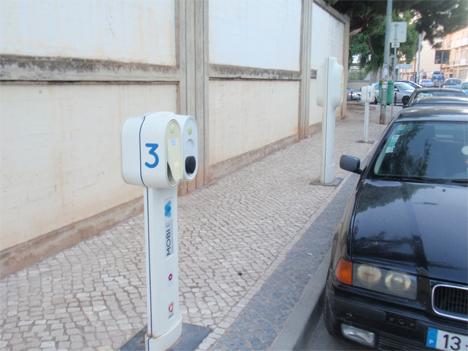 Puntos de recarga para vehículos eléctricos en Faro.