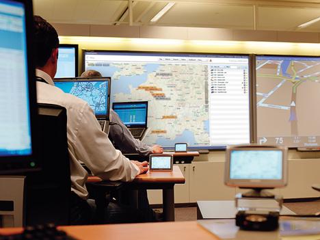 Centro de gestión de flotas de Gasllastegui con tecnología de TomTom.