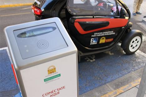 Punto de recarga para vehículos eléctricos en Mérida