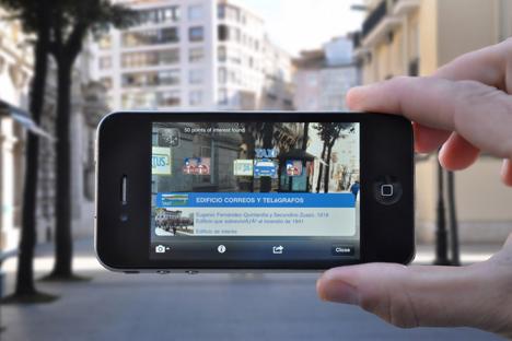 Aplicación de Smart Santander con Realidad Aumentada