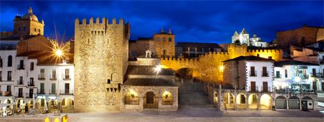 Casco antiguo de Cáceres digitalizado en aplicaciones destinadas al turismo.