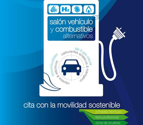 Cartel de la 5ª Edición del Salón Vehículo y Combustible Alternativos de Valladolid.