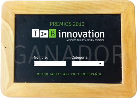 Estatuilla del premio TAB Innovation