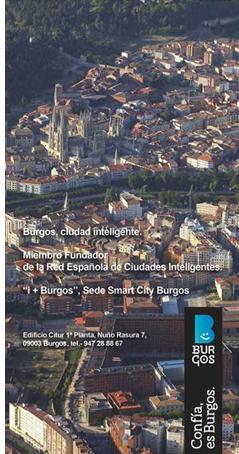 Cartel de Burgos Smart City.