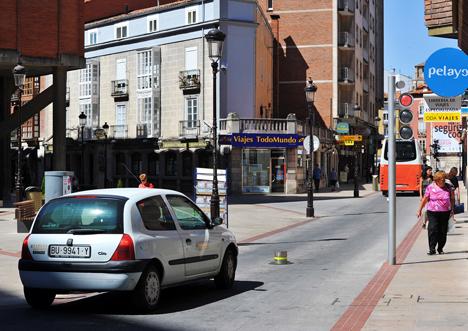 Sistema inteligente de acceso al área peatonal.