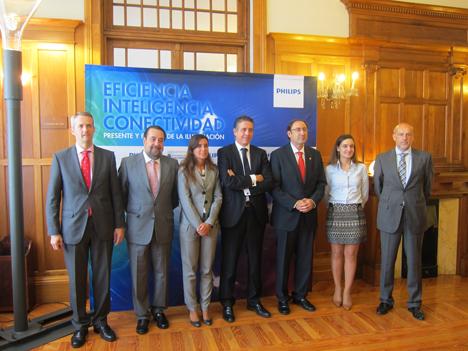 Ponentes del seminario Eficiencia, Inteligencia y Conectividad de Philips en Santander.