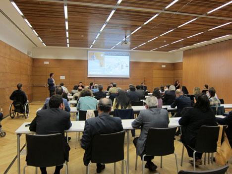 Mesa sobre comercio electrónico, pago móvil y NFC, del IV Congreso de Tecnologías de la Accesibilidad
