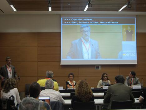 Mesa sobre accesibilidad en el transporte, en el IV Congreso de Tecnologías de la Accesibilidad