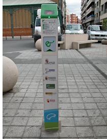 Punto de recarga para vehículos eléctricos instalado en Palencia.