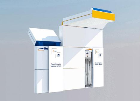 FASTO, estación de recarga rápida para vehículos eléctricos de Enel y Endesa, compatible con todos los tipos de conectores.