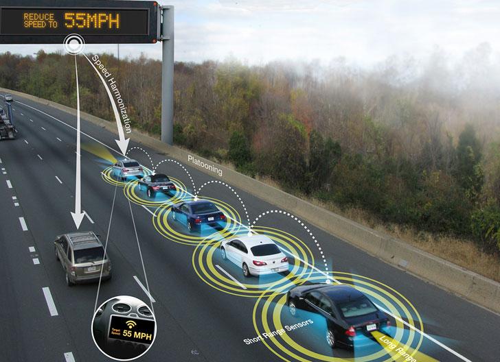 Vehículo conectado alerta velocidad