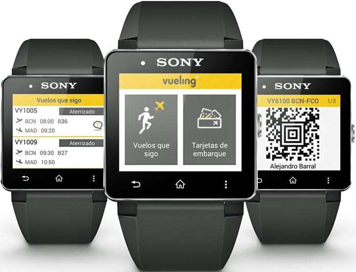 Tarjeta de Embarque Sony y Vueling