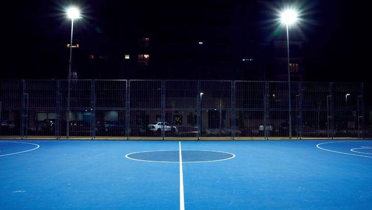 Iluminación pistas deportivas