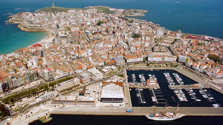 Vista aérea de A Coruña