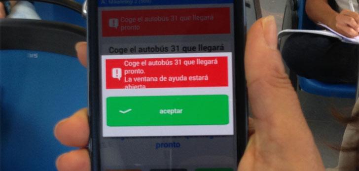 Aplicación para usar el transporte público dirigida a personas mayores