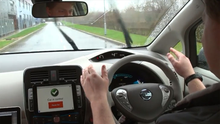 Pantalla de 'Car in control'