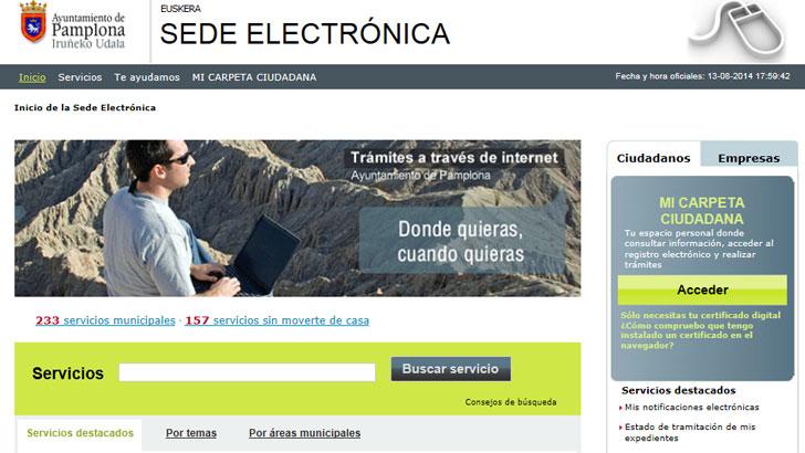 e-Administración, Pamplona